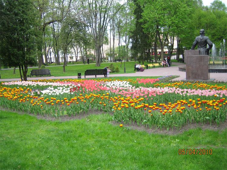 Территория парка в Гомеле