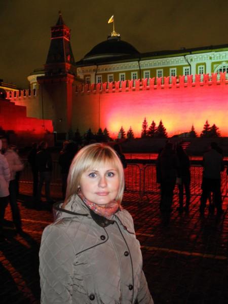 Фото с лазерного шоу в Москве