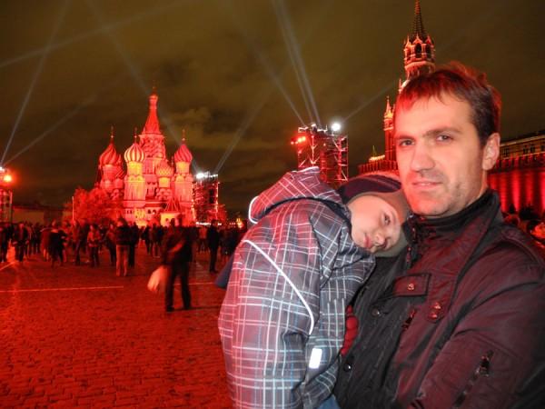 Фото семьи на Красной площади