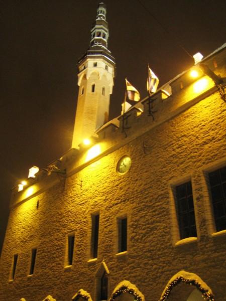 Новогоднее фото Таллиннской ратуши
