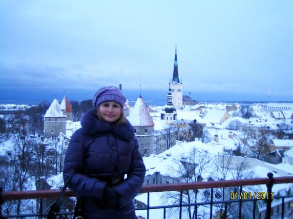На смотровой площадке в Таллинне