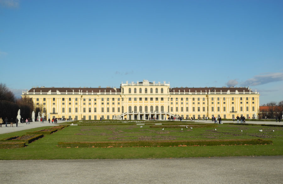 Фотография Дворца Шёнбрунн в Вене
