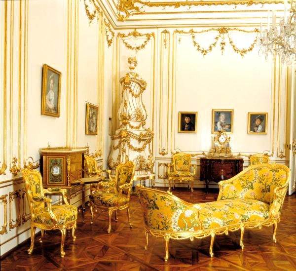 Дворец Шенбрунн. Желтый салон