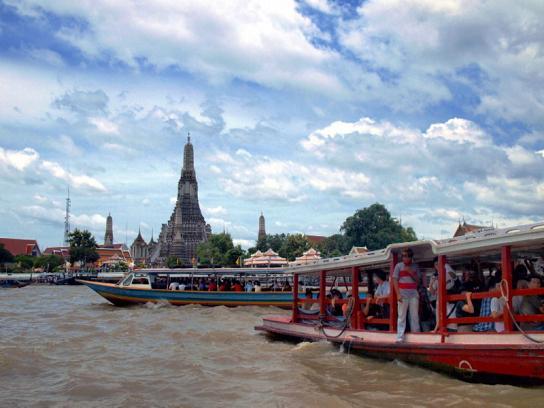 Лодки на реке Чао Прайя